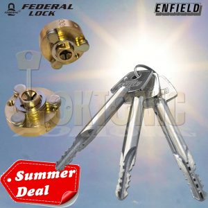 Enfield Garage Door Bolts Locks Replacement Set Cylinder Plug Cores With 3 Keys
