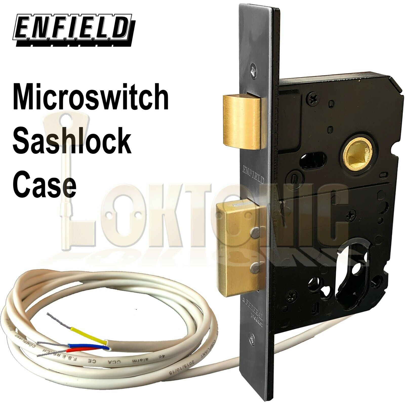 Enfield Mortice D735D Microswitched Dual Euro Oval Cylinder Sashlock Lock Case