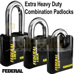 Federal 60mm Extra Heavy Duty High Security Combination Padlock Van Gate Garage