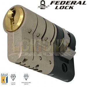Federal BSI 3 Star TS007 Security Half Euro Cylinder UPVC Door Lock Anti Snap
