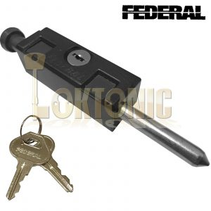 Federal Black High Security Sliding Patio Door Lock Window Locking Dead Bolt