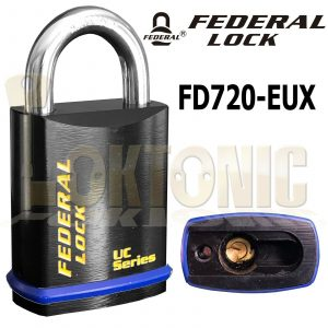 Federal FD720EUX Solid Steel Lock Body Padlock To Suit Double Euro Cylinder