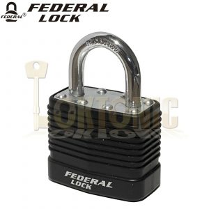 Federal Medium Security Weather Protected Padlock + Hasp Combo Shed Gate Garage
