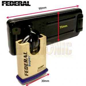 Federal Security Shed Gate Lock Hasp Staple And Padlock Combo FD1055 FD30P