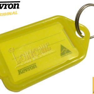 Kevron Pack 10 ID5 YELLOW 100% Genuine Plastic Clicktag Label Key Tags Click Tag