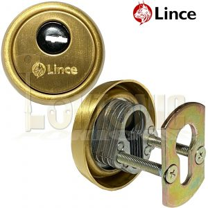 Lince Gold High Security Euro Cylinder Escutcheon Keyhole Cover Plate Van Doors