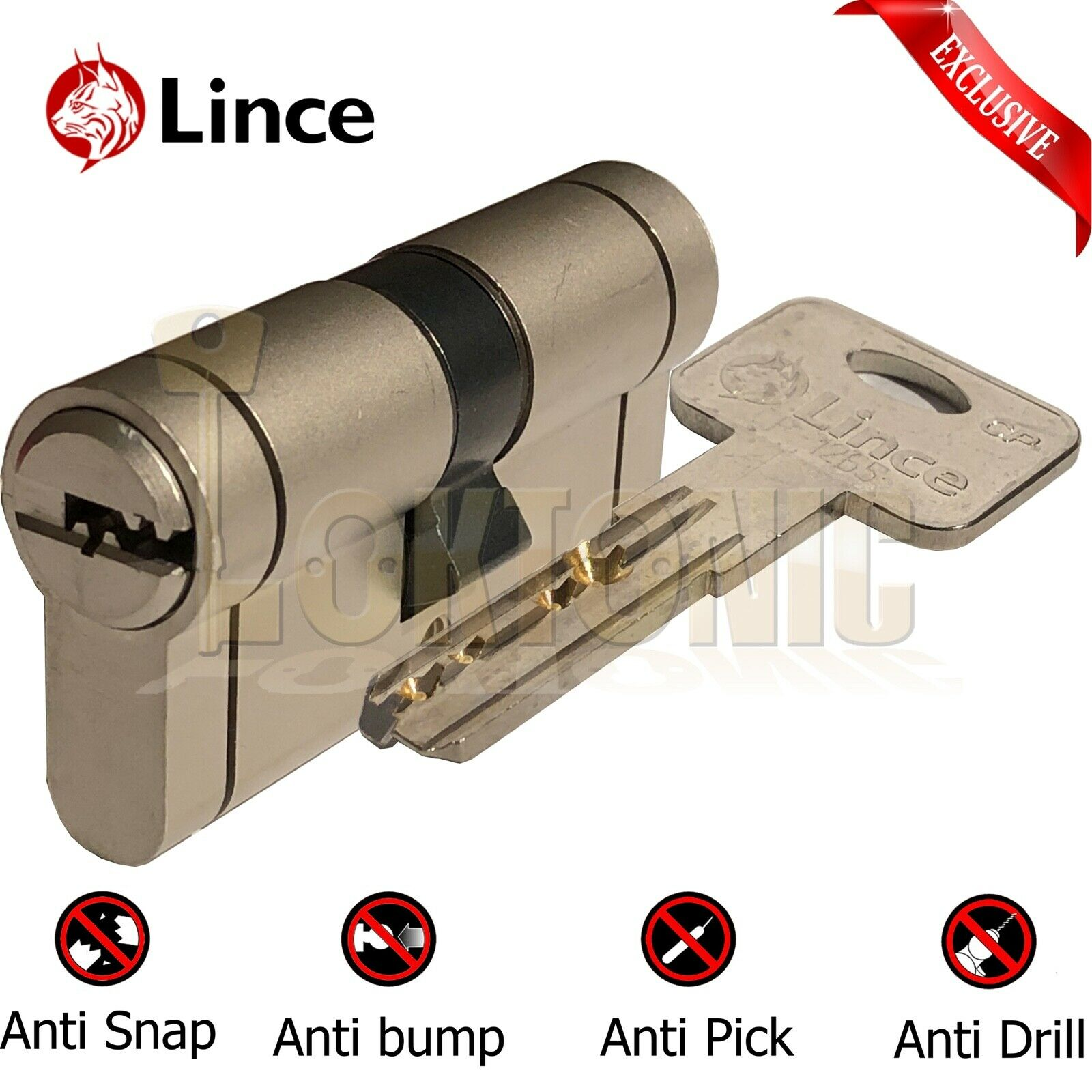 Lince High Security Euro Cylinder Composite Door Lock Anti Snap Bump Drill Pick