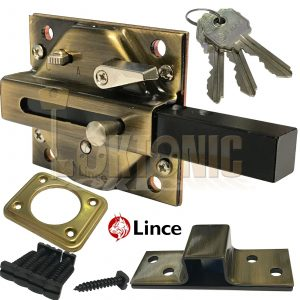 Lince Lock 2930BI High Security Heavy Duty Rim Gate Shed Garage Sliding Bolt