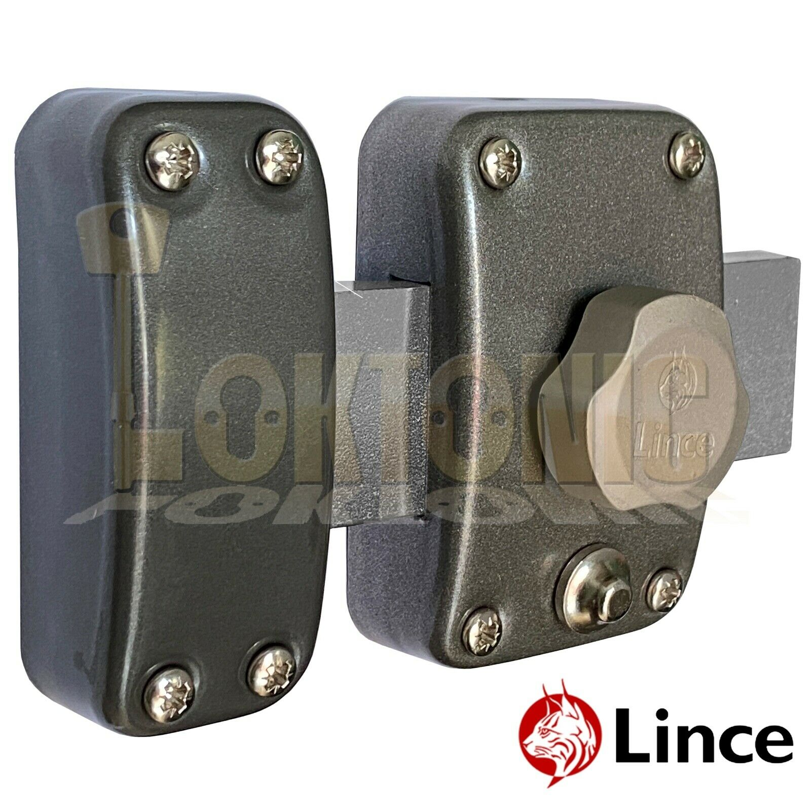 Lince Lock High Security Heavy Duty Garden Gate Shed Garage Rim Fitted Dead Bolt