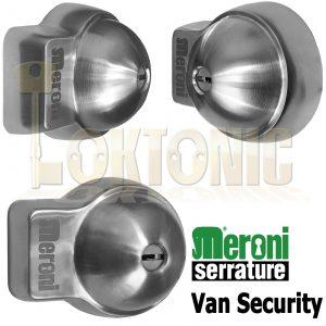 Meroni UFO+ Heavy Duty Stainless Steel Slam Shut Van Lock Back + Sliding Doors
