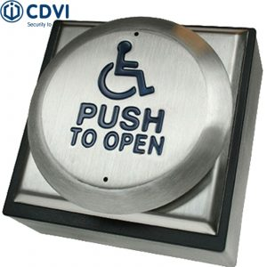 RTEPTOD Large High Quality Stainless Steel Switch Wheelchair Logo Push To Open